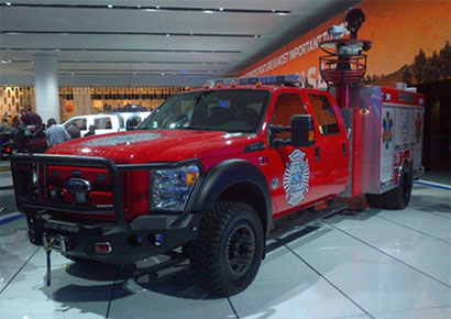 The Ford F450, which is available in North America with the SinterCast-CGI 6.7L V8 diesel, was not on display this year. The photo was taken by S Dawson at NAIAS 2013.